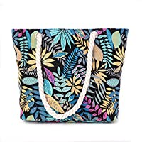 Wewod Casual Canvas Shopping Bag Simple Large Capacity Bag For Shopper (Multicolour)