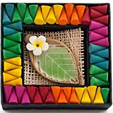 Colourful Rainbow Incense Cones- Lotus Leaf Cone Holder Mixed Fragrance Gift Set - Hunky Dory Gifts - amazon.co.uk