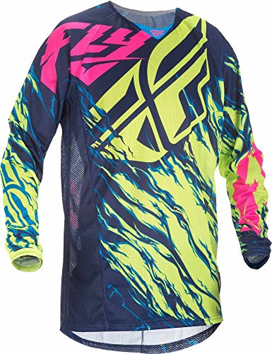 Fly Racing Mountainbike & Motocross Mesh Hemd hi-vis-blau-pink Fahrerhemd - Fox Racing Jersey-stretch