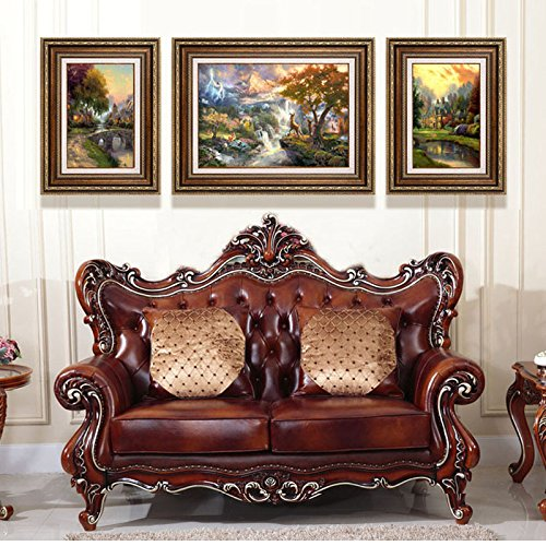 Dipinti decorano il soggiorno pitture murali continentale divano retrò immagine