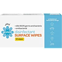 Godrej Protekt Disinfectant Surface Wipes, Kills 99.9% Germs and Bacteria, for Kitchen, Home and Travel, Alcohol based…