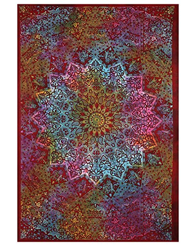 Populärer Zwillings-Bindungs-Färbung Stern-Hippie-Mandala böhmischer psychedelischer Tapisserie-Elefant-Tapisserie-Wand-hängender Boho-Tapisserie-Hippie-Hippie-Tapisserie-Strand-Abdeckungs-Vorhang