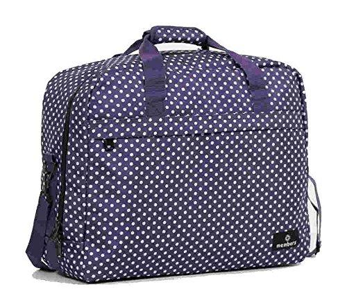 Members Essential on-board Borsa a tracolla da viaggio/borsone 55x 40x 20cm Purple & White Polka