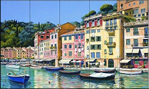 Fliesenwandbild - Portofino von Michael Swanson - Küche Aufkantung/Bad Dusche (Portofino Bad)
