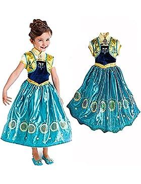 Ducomi® Princess - Kleine Mädchen Dressup Fantastisches Kostüm - Perfekt für Party, Halloween, Karneval und Geburtstagsgeschenk...