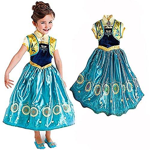 Kleine Mädchen Dressup Fantastisches Kostüm - Perfekt für Party, Halloween, Karneval und Geburtstagsgeschenk - No Disney (Sonnenblume, 110cm) (Baby Geburt Halloween-kostüm)