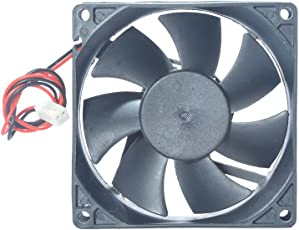"""MAA-KU DC Axial Case Cooling Fan. Size : 3.15"""" inches (8x8x2.5cm), (80x80x25mm), Supply Voltage : 12VDC (Black)"""