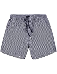 Mens Brave Soul Ascot Designer Striped Swim Trunks