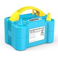 Dr.meter Pompe à Ballon, Gonfleur Electrique Ballon avec Double Utilisation, Portable pour Soufflante Gonfleuse, pour…