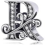 Bamoer Charm con lettera dell'alfabeto dalla A alla Z, per braccialetti europei