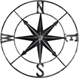 YiYa Distressed Metal Compass Mural Decoration Nautical Decoration Bedroom Living Room Garden Office Wall Hanging Beach…