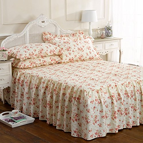 Emma Barclay Beverly Floral Frilled Bedspread Set, Pink, Double