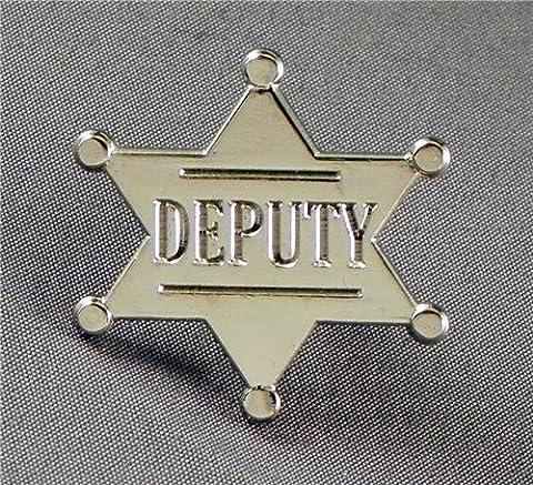 Metal Enamel Pin Badge Deputy Star (Chrome Finish) by Mainly Metal