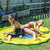 TTXLY Splash Spielmatte Splash Pad Wasserspielzeug Outdoor Sprinkle und Splash Wasserspielmatte Party Garten Sommer Spray Outdoor Spielzeug Spaß für Kinder Kleinkinder Kinder Jungen und Mädchen