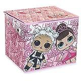 L.O.L. Surprise ! Coffret Rangement Jouet pour Chambre Fille   Coffre à Jouet Fille pour Poupées LOL Surprise Dolls et Accessoires   Cube De Rangement pour Chambre Enfant