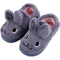 Girls Boys Novelty Slipper, Cute Rabbit Fluffy slippers for Kids, Non-Slip Children House Shoes, Winter Warm Slip on…