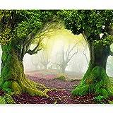 murando - Fototapete Abstrakt 200x140 cm - Vlies Tapete - Moderne Wanddeko - Design Tapete - Wandtapete - Wand Dekoration - Bäume 10110903-30