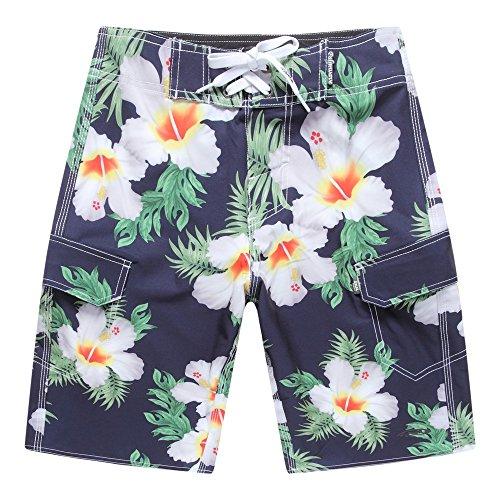 Pantalones-cortos-de-la-playa-del-desgaste-de-la-playa-de-los-hombres-con-el-bolsillo-en-hibisco-azul-42