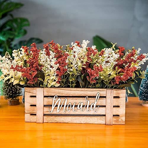 Jnseaol Kunstblumen Gefälschte Blume DIY Kreativer Parteiausgangsdekorationsbretterzaunpotentiometer Rot-01