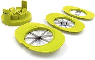 Yellowfit 4 in 1 Obstschneider Set mit Fruchthalter/Mangoschneider / Apfelschneider/Birnenschneider / Orangenschneider/Tomatenschneider