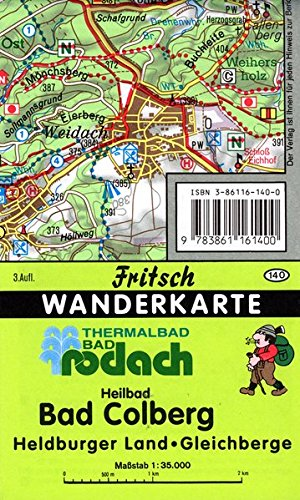 Bad Rodach Thermalbad (b. Coburg): Heilbad Bad Colberg, Heldburger Land, Gleichberge (Fritsch Wanderkarten 1:35000) (Heilbad Bad)
