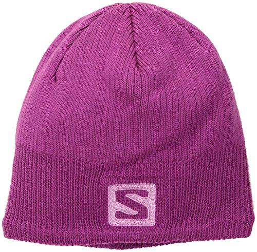 Salomon Logo Beanie rose violet