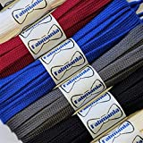 Fabmania Cordones de algodón planos - Ideal para Adidas, Converse, Vans Stan Smith, Nike Air Huarache - 8 mm - 60 a 140 cm - Hecho en Inglaterra
