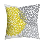 ZEELIY Geometric Yellow Pillow Case Cushion Covers Decorative Square Pineapple Leaf Luxury Pillowcases for Couch...