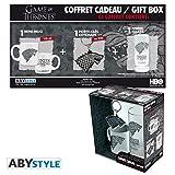 ABYstyle GAME OF THRONES - Coffret cadeau Verre 29cl + Porte-clés + Mini Mug Stark