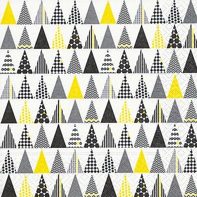 20 Servietten 33 x 33 cm Weihnachten Baummuster Weihnachtsbaum modern Christmas