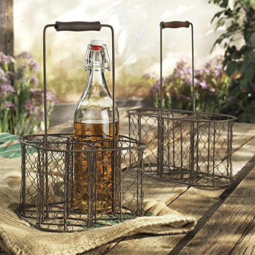 Home Essentials & Beyond 65048Französischer Draht Weinflaschenhalter & # 44; - Dekor Bar Zubehör Und Home