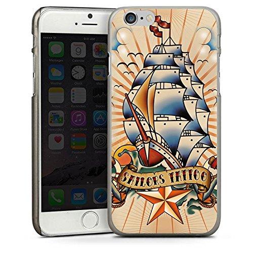 Apple iPhone 3Gs Housse étui coque protection Bateau Ancre Étoiles CasDur anthracite clair