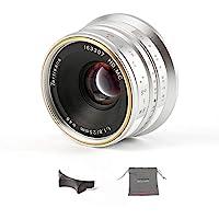 7artisans 25mm F1.8 Manueller Fokus Prime Fixiertes Objektiv für Olympus for Panasonic Micro Four Thirds MFT m4/3…