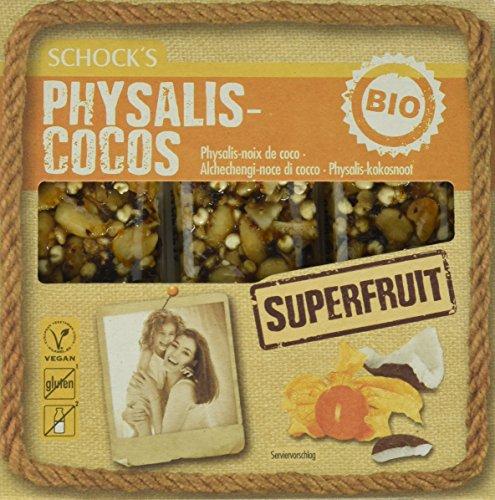 Schocks Superfruit Physalis-Cocos glutenfrei, laktosefrei, vegan, 3er Pack (3 x 75 g)