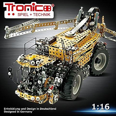 Jeu de Construction - TRONICO - Pulvérisateur automoteur CHALLENGER RoGator 645B en métal et plastique, 4 roues directricessystème de pulvérisation entièrement déployable, entièrement fonctionnel