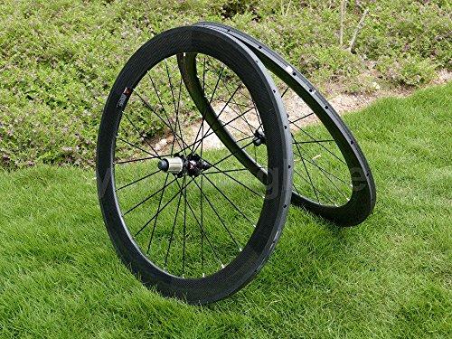 Full Carbon 3K Matt Rennrad Tubular Felge 60mm Basalt Bremse Seite Breite 23mm Toray Carbon Laufradsatz für Campagnolo