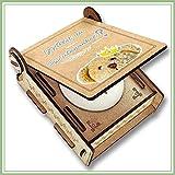 CANDLE IN THE BOX Patenonkel fragen | Junge | Geschenk-Box mit Botschaft & Kerze | Personalisiert mit Bild & Namen | Willst du mein Patenonkel sein?