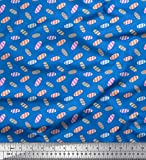Soimoi Blau Baumwolle Batist Stoff Dot & Süßigkeiten