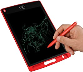 Edu Toys LCD Writing Tablet 8.5 inch Handwriting Drawing Painting Board Doodle Pad for Office Whiteboard Memo and Kids Gift, RED