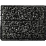 Hibate (Nero) Uomo Donna Porta carte di credito Portafoglio sottile in pelle Blocco RFID Blocking Credit Card Holder Wallet
