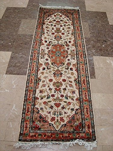 rechteck-bereich-teppich-elfenbein-blumen-medaillon-handgeknotet-wolle-seide-teppich-laufer-2-x-6-