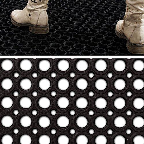 Profi Ringgummimatte von etm | Gummimatte für den Eingangsbereich außen und innen | Matte mit robuster Ringgummi Struktur | Größe wählbar ( 40x60 cm )