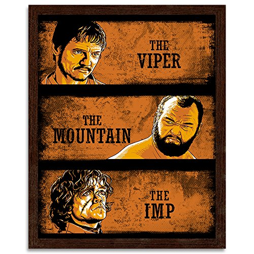 Viper Film (Feeby. Bild in der Rahme, ein Deco-Bild, Bilder Kunstdrucke, Wandbilder - 1 Teilig- 70x100 cm, The Viper, the Mountain and the Imp - DDJVigo, FILM, ORANGE)