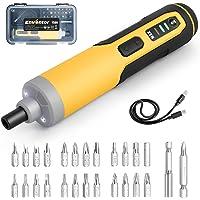 Cacciavite Elettrico 6 Nm,Cacciavite Batteria 4V ENVENTOR,3 Marce(4Nm-6Nm), 300 RPM,25 Punte Magnetico,Luce a LED…