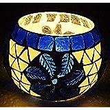 Antique Tea Light Holder Glass Decorative Candle Holder