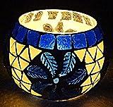 Hare Krishna Regalo di compleanno di San Valentino Bicchiere da tè in vetro da sposa Portacandela da 8 Cm