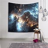 Sterne Weltraum Wandteppich Wanddeko Wandbenhang Wandtuch Tischdecke mit Bild von Milchstraße Dekoration für Schlafzimmer Wohnzimmer HYC06(3#)