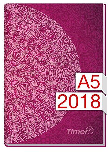 Chäff-Timer Classic A5 Kalender 2018 [Lila Mantra] 12 Monate Jan-Dez 2018 - Terminkalender mit Wochenplaner - Organizer - Wochenkalender