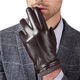 HARRMS Herren Winter Handschuhe Fäustlinge Echt Leder Touchscreen Gefüttert mit Fütterung, Schwarz, Für Fahren Motorrad Radfahren,2XL = 9,8