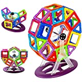 (Angel Impex) Magnetic Mac Magic Gaint Wheel And Other Toys To Create From 58 Pcs For Your Kids